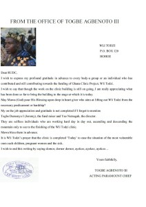 Letter from Togbi